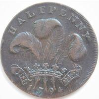20. Англия пол пенни, токен 1794 год