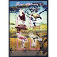 Чад 2012 Фауна Хищные птицы Орлы :  Блок Люкс**