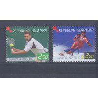 Хорватия 2001.Спорт.Теннис,лыжи-слалом.