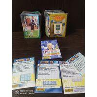 Карточки футбол'99 более 90шт, распродажа коллекции (с рубля)