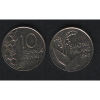 Финляндия km65 10 пенни 1995 год (M) (f38)