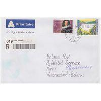 Конверт прошедший почту из Швейцарии в Беларусь
