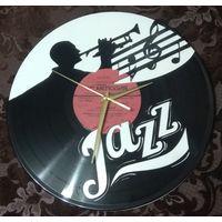 """Часы из виниловой пластинки """"Jazz"""" 30см"""