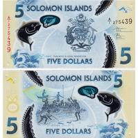 Соломоновы острова 5 долларов  2019 год  UNC (полимер) НОВИНКА