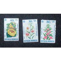 Марки Индонезии. Цветы. Дата выпуска:1965-12-20