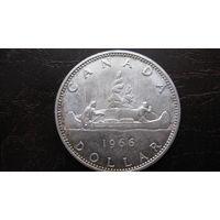 Канада 1 доллар 1966 г (серебро )