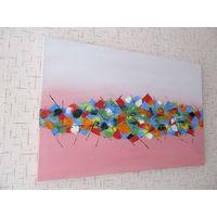 Картина масло (абстракция). 40*60 см. Холст на подрамнике.  Готова к навеске.