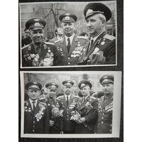 2 фото ветеранов 1990-е 9х14 см. Цена за оба.