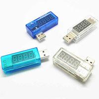 USB тестер прямой и угловой 3-7 вольт    0-3 ампера прозрачный или синий корпус