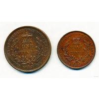 Эссекибо и Демерара стивер + 1/2 стивера 1813 AUNS