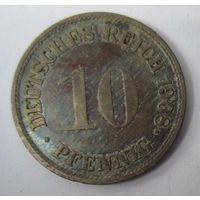 Германия. 10 пфеннигов 1908 G . 1-59