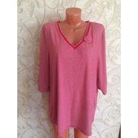 Блуза на 54-56 размер, Германия Приятная на ощупь ткань, очень мягкая и тепленькая. Длина 74 см, ПОгруди 65 см в нерастнутом состоянии, плюс еще очень хорошо тянется. Блуза бу, носила немного, состоян