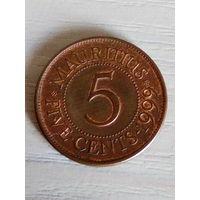 Маврикий 5 центов 1999г.