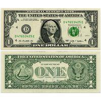 США. 1 доллар (образца 2009 года, D, Огайо, P529, UNC)