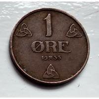Норвегия 1 эре, 1935 4-4-37