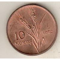 Турция 10 куруш 1972 ФАО - Сельскохозяйственный прогресс