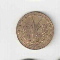 10 франков 1971 года Западная Африка