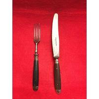 Немецкий столовый нож с вилкой (D.R.G.M. ROSTFREI SOLINGEN)
