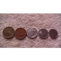 Чехия, монеты 20, 10, 5, 2, 1 крон. распродажа