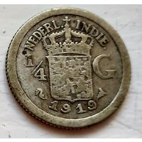 Голландская Ост-Индия 1/4 гульдена, 1919 1-7-43