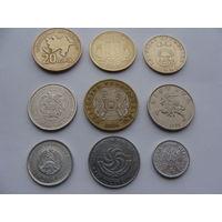 Сборный лот. -  9 Европейских монет разных годов и разных номиналов