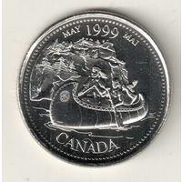 Канада 25 цент 1999 Май