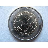 Словакия 2 евро 2011г. 20 лет формирования Вишеградской группы. (юбилейная) UNC!