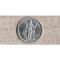 Французская Полинезия 50 сантимов 1965//Xx