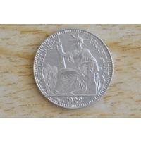 Французский Индокитай 10 сантимов 1929(серебро)
