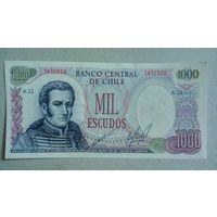 Чили 1000 эскудо unc
