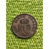 Германия Пруссия 1 пфенниг 1869 г  ( состояние )