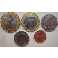 Мавритания  20, 10, 5, 1, 1/5 угий 2017 г. Комплект 5 монет
