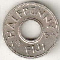 Фиджи 1/2 пенни 1954 2