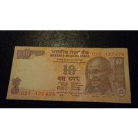 10 рупий Индия 02T 177476