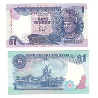 Банкнота Малайзия 1 ринггит (1981-83) UNC ПРЕСС бумага