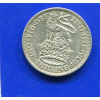 Великобритания 1 шиллинг 1936, серебро, Georg V.