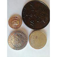 Три настольных медали и жетон