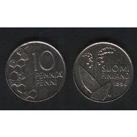 Финляндия km65 10 пенни 1996 год (M) (f35)*