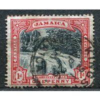 Водопад. Ямайка. 1901. Полная серия 1 марка