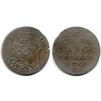 2 гроша серебром 1766 FS, Станислав Август Понятовский, Варшава