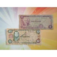 Ямайка 1 доллар 1960г и 2 доллара 1993г