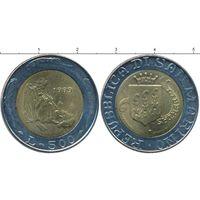 Сан-Марино 500 лир 1989 Зодчий Шестнадцать веков истории UNC