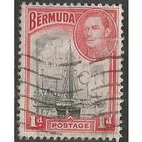 Бермуды. Король Георг VI. Пристань в Гамильтоне. 1938г. Mi#101в.