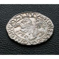 Полугрош 1560, Жигимонт Август, Вильно. Окончания легенд: Ав - L, Рв - LITV. Штемпельный блеск, коллекционное состояние