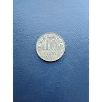 Германия 10 пфенингов 1920(цинк)15