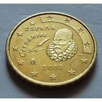10 евроцентов, Испания 2007 г., AU