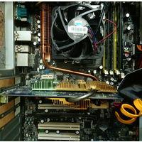 Комплект Материнская плата Asus M2N-E с процессором Athlon X4 640, видеокарта 6600, память 2+1+1 Гб