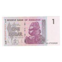 1 доллар 2007 года Зимбабве UNC