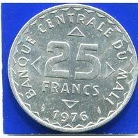 Мали 25 франков 1976