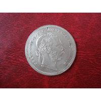 20 крейцеров 1869 год Австро-Венгрия (СОСТОЯНИЕ!!!) серебро
